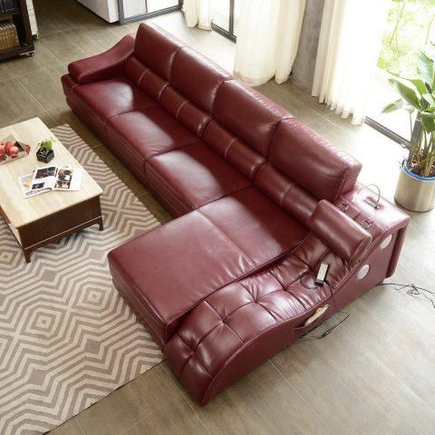 Real Leather Corner Sofa L Shape Sofa