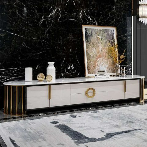 Marble TV table