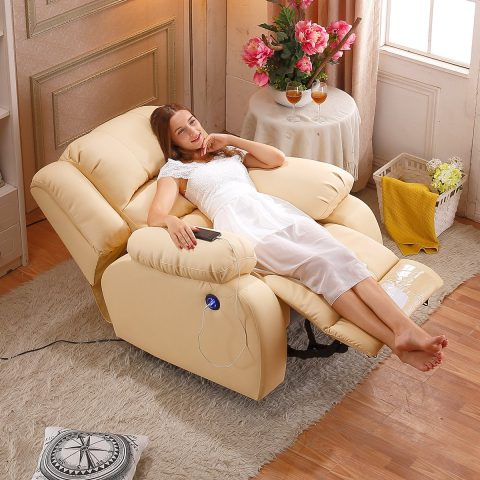 Recliner sofa with electric