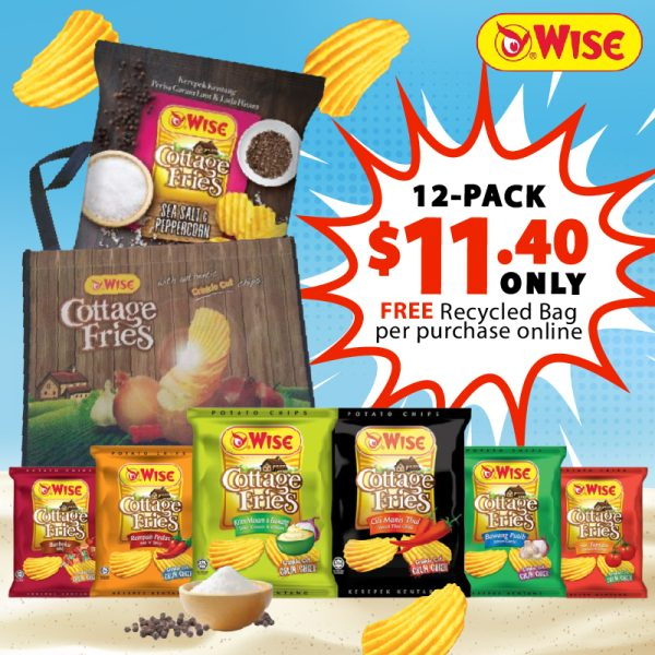 Weelago Wise Cottage Fries Promo July 2021 - Free Recycled Bag