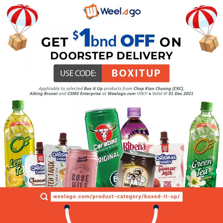 2021 05-MAY RRR - Promo Code BOXIT - WEELAGO Box it Up - $1 Off on Shipping - Web-01
